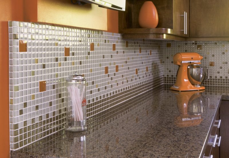 Midcentury-Kitchen Custom Tile - linda-allen-designs