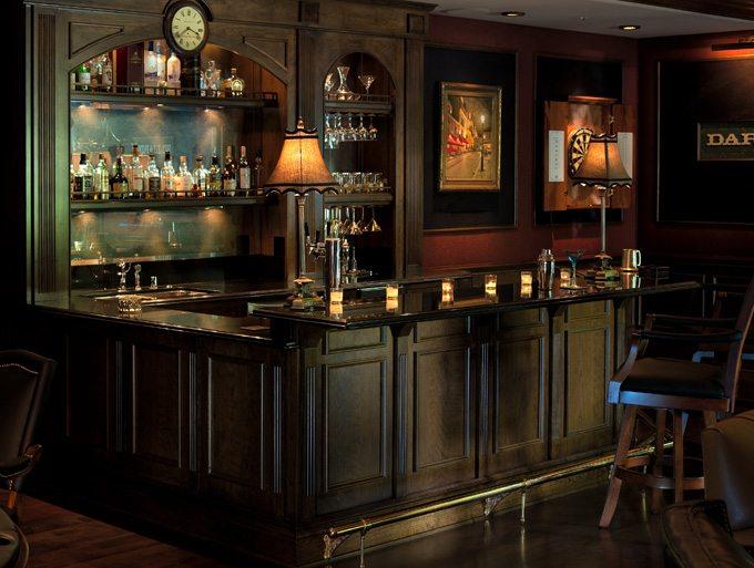 Lounge - Old World Pub Game Room- Linda Allen Designs