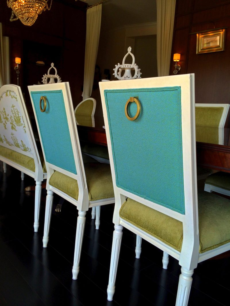 color-block-chairs-Whimsical Dining/Lounge-linda-allen-designs