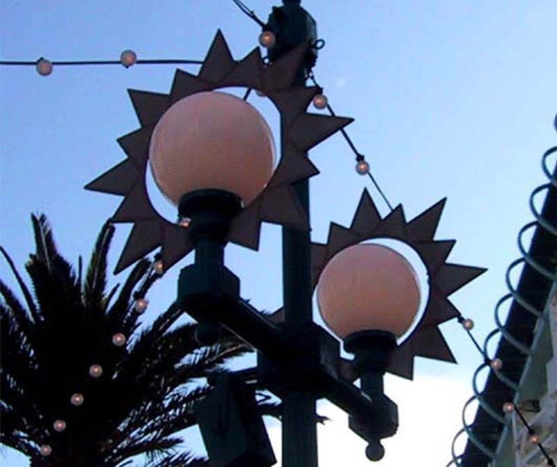 disney-california-adventure-custom-light-fixtures-linda-allen-designs-live-anywhere-paradise pier-sun-lights