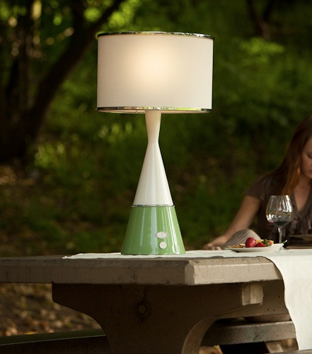 AVA Wireless Outdoor Table LampS Featured By Designer, Mark Cutler U2022 Linda  Allen Designs   Live Anywhere Luxury Modern Wireless Lighting